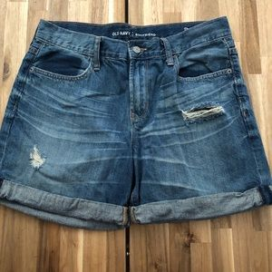 Old Navy Boyfriend Distressed Shorts